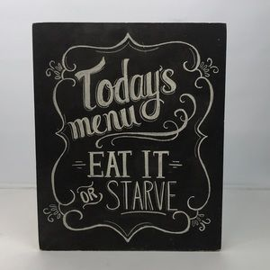"Chalkboard Look Kitchen Wall Art ""Today's Menu"""